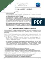 Projet Access Merise