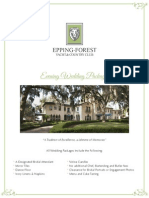 Epping Forest Jacksonville Wedding Plan Guide & Menu