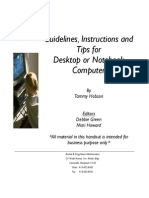 Guidelines, Instructions and TIPS for Desktop or Notebook Computer Revised 10-2004
