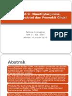 Asymmetric Dimethylarginine, Disfungsi Endotel Dan Penyakit Ginjal