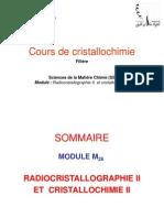 Cours de Cristallochimie 2015 INTRODUCTION