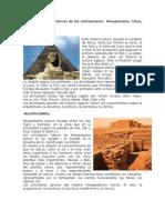 Principales Características de Las Civilizaciones