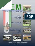 Plan Educativo Municipal Ciudad Bolivar