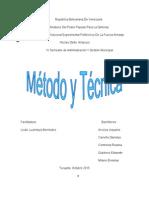 Trabajo de Método y Técnica