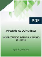 Informe Turismo al Congreso 2015