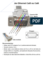 VGA via Cabo Ethernet Cat5 Ou Cat6