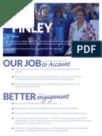 Diane Finley For Interim Leader Pamplhet