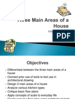 pp- 3 main areas of a house