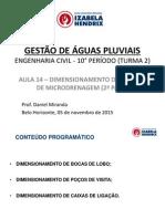 Gestao de Aguas Pluviais Civil Turma2 2015 2 AULA 14