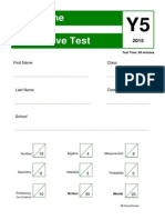 1 summative test year 5 written