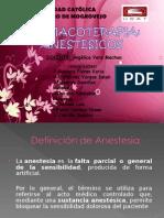 Clase de Anestesicos Locales y Generales