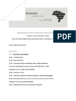 Programa do III Ciclo de Debates da Escola de Museologia da UNIRIO