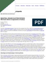 Electrochemistry Encyclopedia --- Industrial Organics