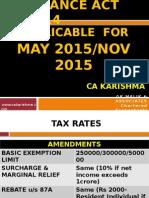 Amendments Direct Tax Nov 2015