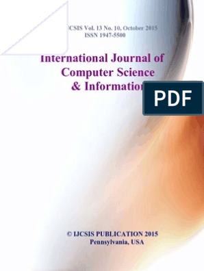 Journal of Computer Science IJCSIS October 2015 | Support Vector