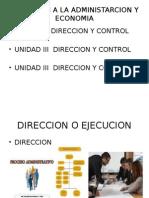 Unidad III Induccion a La Administarcion y Economia