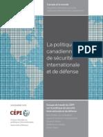 La politique canadienne de sécurité internationale et de défense
