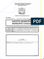 Reforma Parcial de La Ordenanza Del Gobierno Municipal Juvenil de Chacao