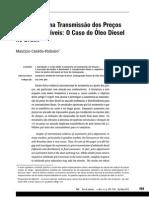 Assimetrias Na Transmissão Dos Preços - O Caso Do Óleo Diesel No Brasil