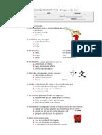 Ficha Compreensão Oral - Conto Chinês