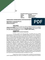 Formalizacion de La Investigacion Preparatoria ( Caso 991-2015 Violacion Sexual)