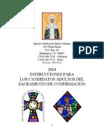 2014 Instrucciones Para Los Candidatos Adultos Del Sacramento de Confirmation (060112)