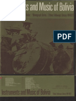 Keiler, Bernard. Instruments and Music of Bolivia. (1963)