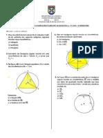 1ª Lista de Exercícios de Matemática - 4o Bimestre