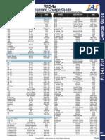 r134a Refrigerant Chart Guide