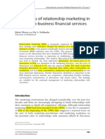 Dimensions of Relationship Marketing in Business to Business Financial Services