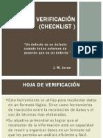 Hoja de Verificación (Checklist )
