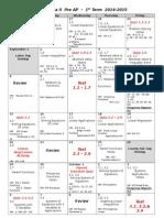 Alg II AP 2014 2015 1st Nine Weeks Calendar