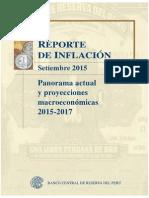 Reporte de Inflacion Setiembre 2015