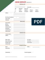Kawan Service Form