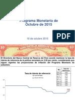 Programa Monetario 2015