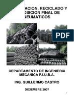 Reutilizacion Reciclado y Disposicion Final de Neumatico