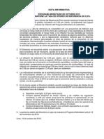 Programa Monetario de Octubre 2015