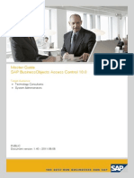 Master Guide - SAP BusinessObjects Access Control 10.0