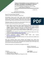 Surat Pelatihan Mutu Dosen 23 Maret Garden Palace