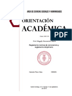 Normas de Convivencia y Reglamento Disciplinario Para El Estudiantado
