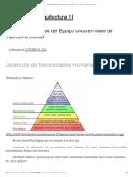 Jerarquía de Necesidades Humanas _ Teoría de La Arquitectura III