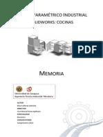Diseño Parametrico Industrial Solidworks Cocinas