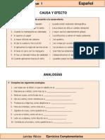 6to Grado - Español - Relaciones Causa y Efecto