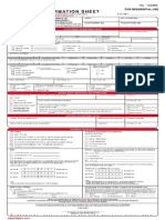 Pldt Customer Information Sheet