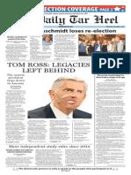 The Daily Tar Heel for Nov. 4, 2015