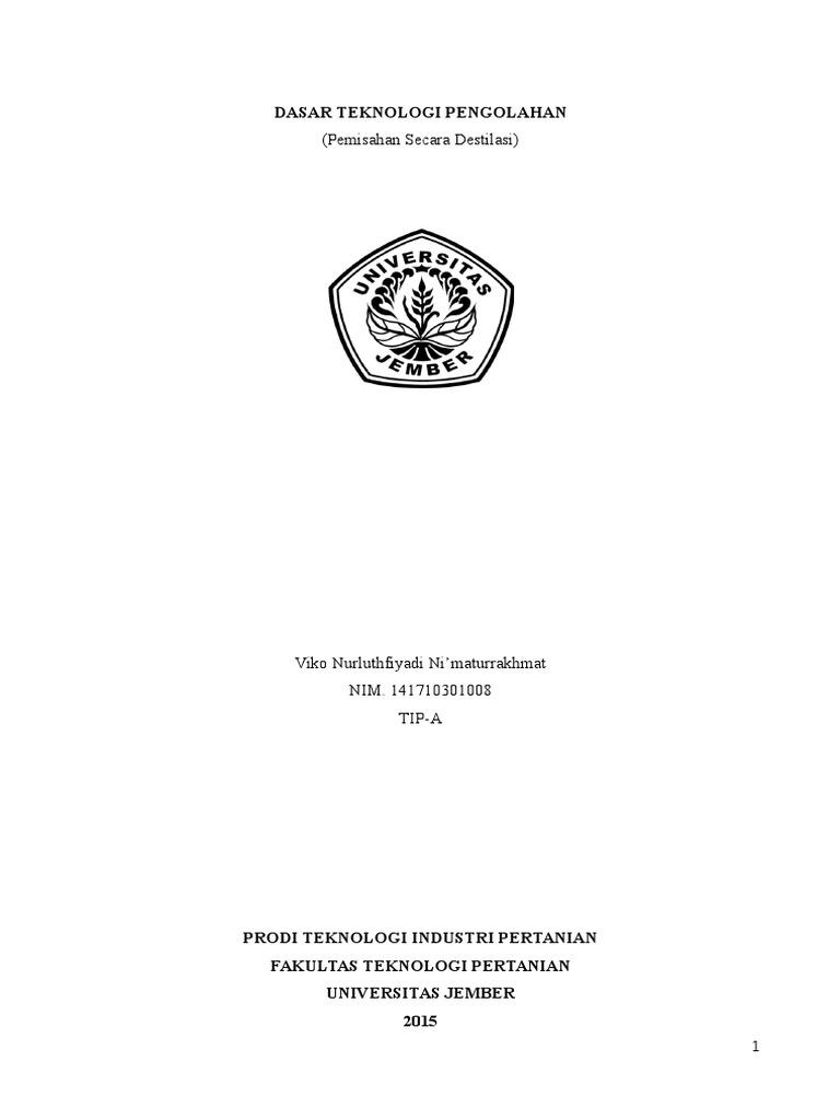 Jurnal praktikum destilasi ccuart Image collections