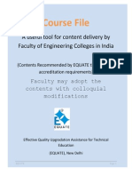 Course File Format for Faculty