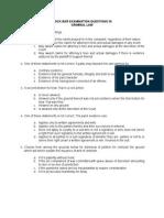 Mock Bar Examination Questions 32