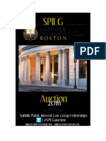 2016 Suffolk Public Interest Law Group (SPILG) Auction Catalog