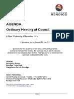 Council Agenda, November 4